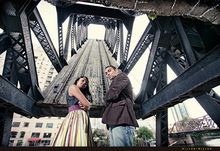 Chicago Bridge Engagement Pictures