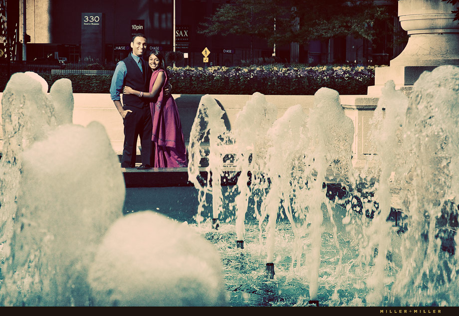 Chicago Fountain Engagement