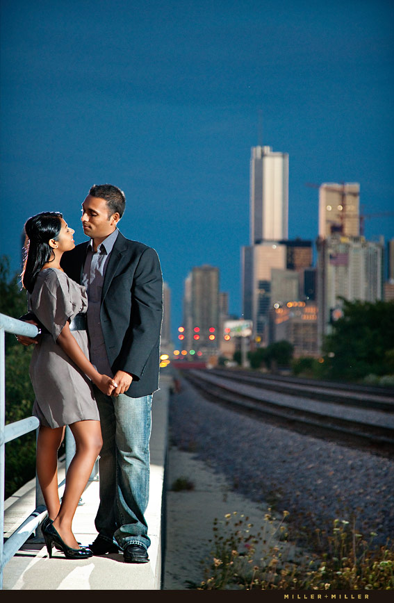 Night Engagement Photos