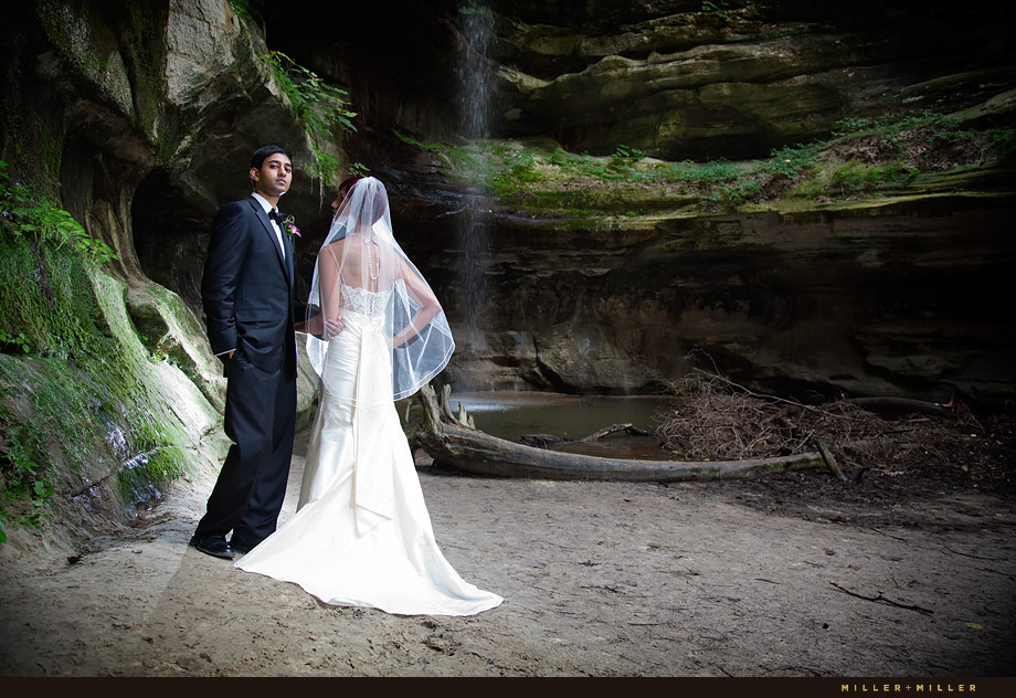 Starved Rock Water Fall Wedding Photography