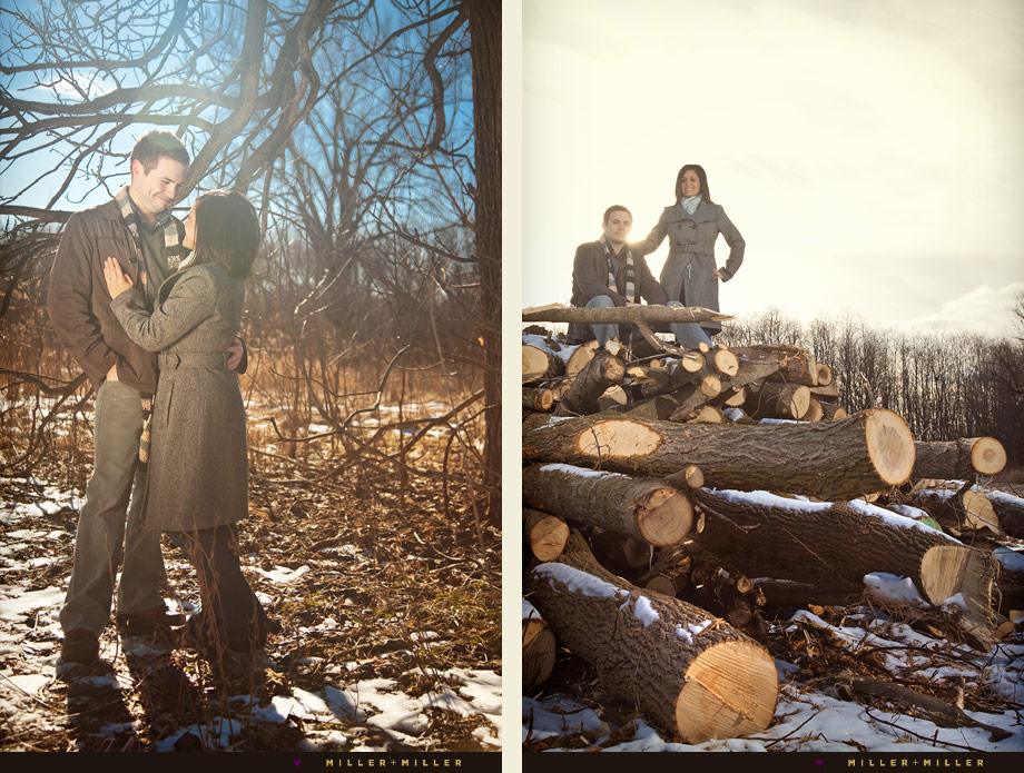 Outdoor Winter Wedding Photography: Sean + Stephanie's Illinois Winter Engagement Photography