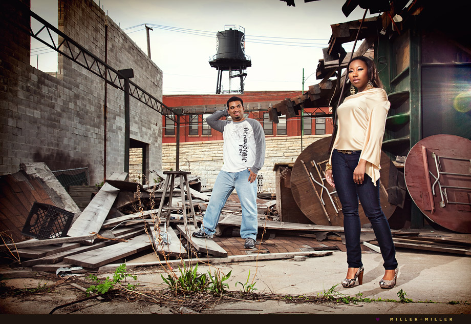 alley urban chicago engagement photography