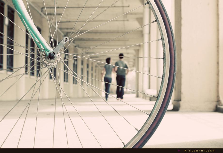 bike artistic engagement photographer chicago-land