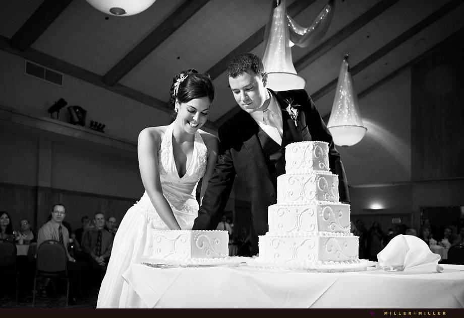 Chicago photojournalistic wedding cake photo
