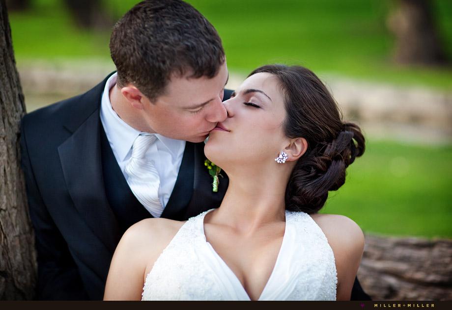 married Barrington wedding photography kiss