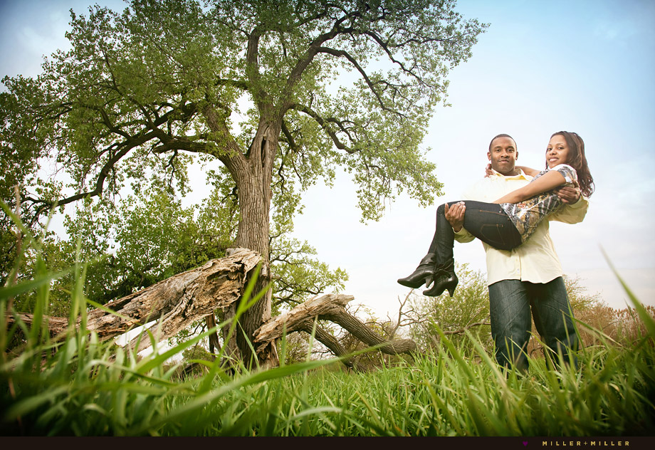 ottawa tree grass picnic engagement portrait photos