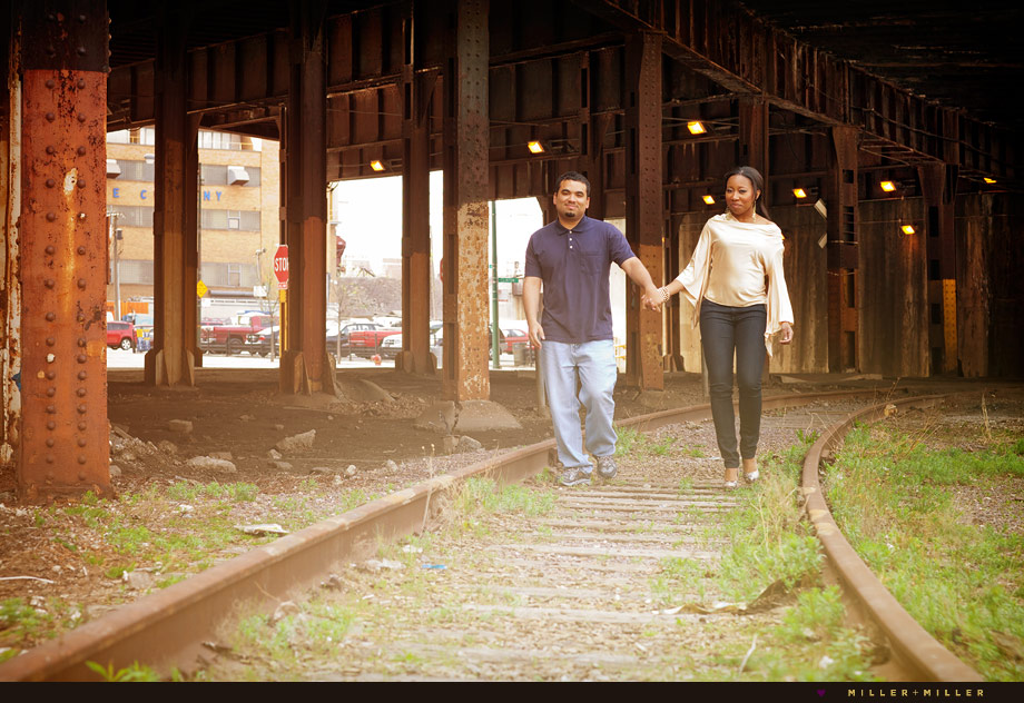 urban underground street engagement photos