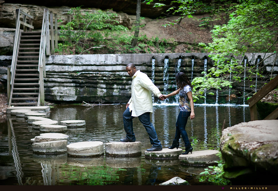 water bridge chicagoland engagement photography
