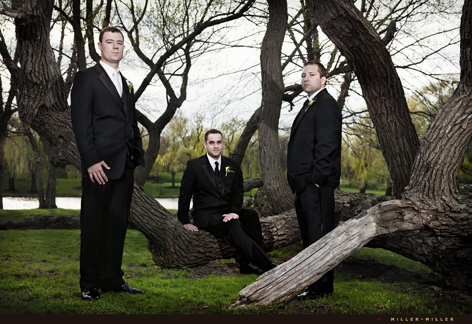 wheaton wedding editorial portraits groomsmen