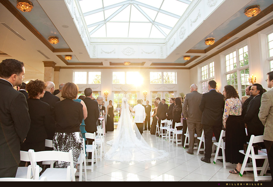 haley mansion indoor grand ballroom ceremony Chicago Wedding Photographer