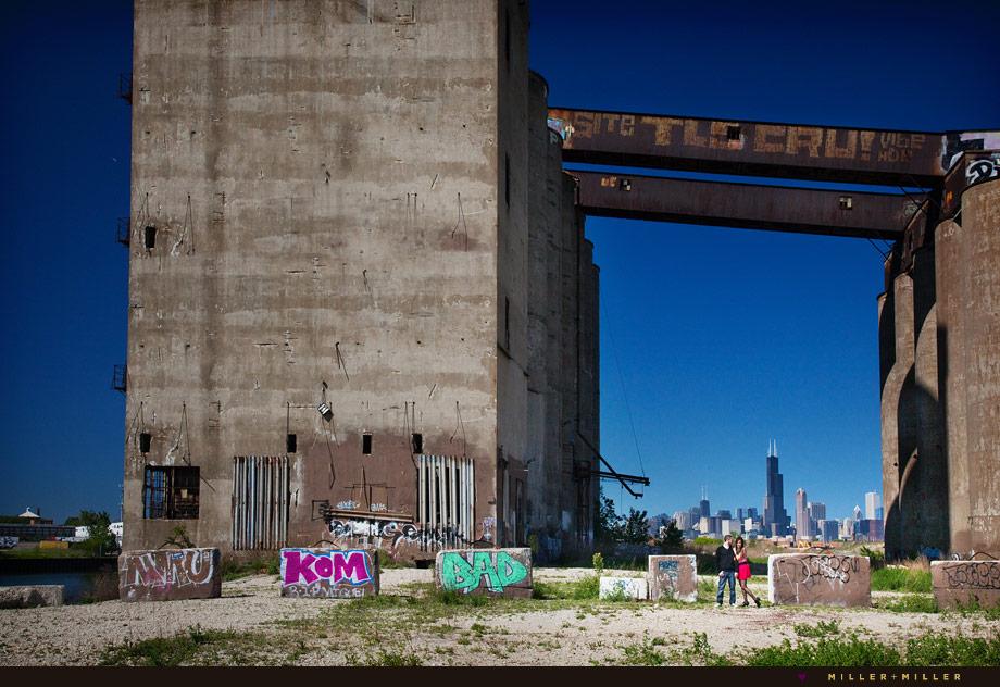 abandoned building chicago skyline engagement