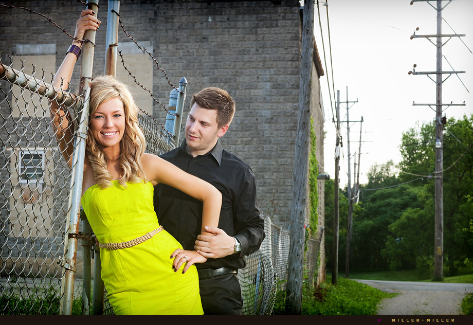 Alley Brick Wall Engagement Pictures Elburn Il