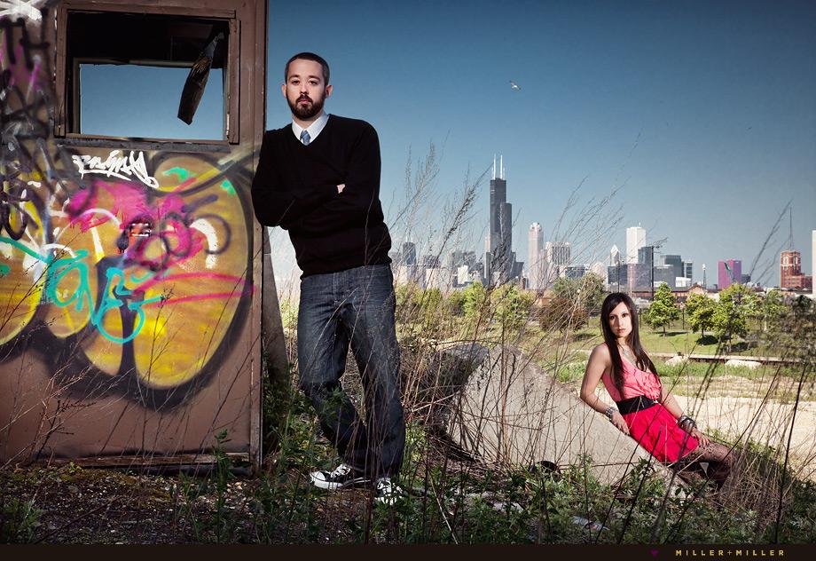 chicago fashion photographer skyline trendy photos