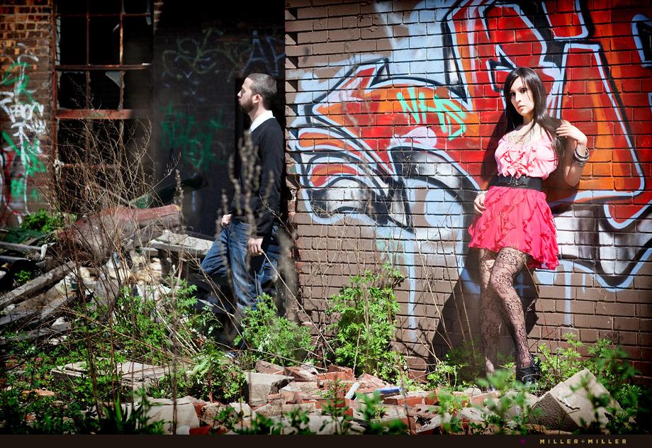 chicago graffiti wall engagement fashion