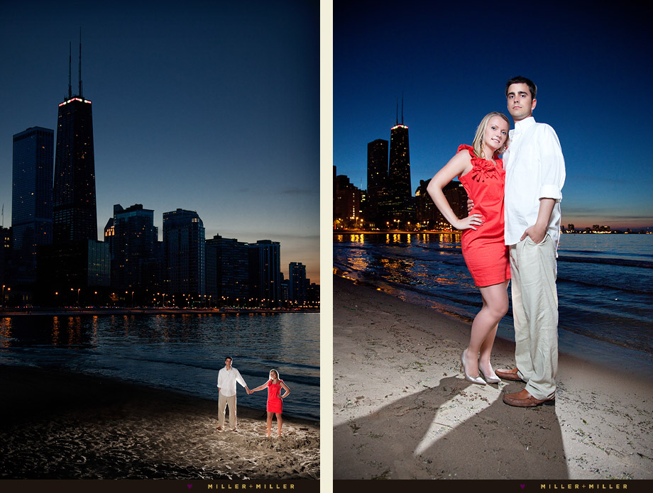 dramatic chicago engagement photos best skyline photographs