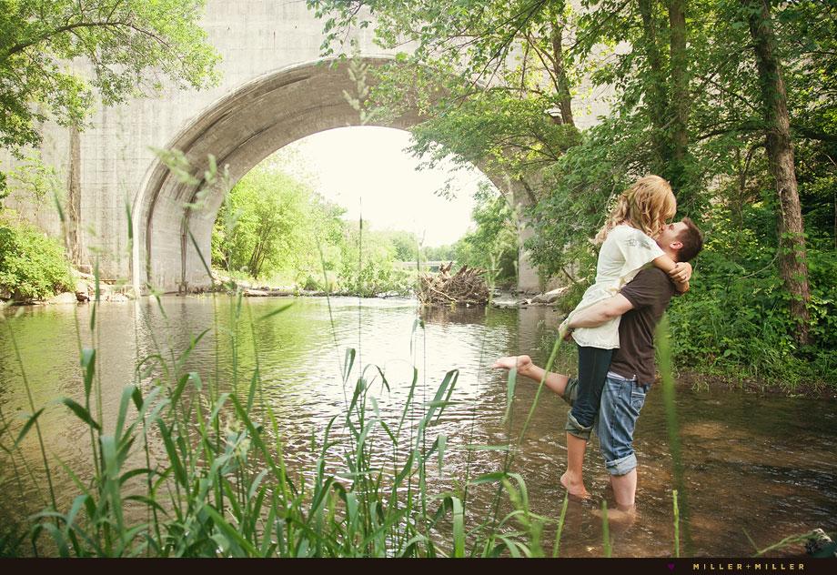 Kiss Amazing Engagement Photos Naperville River
