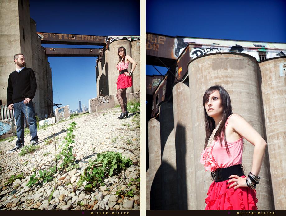 modern unique chicago engagement photographer