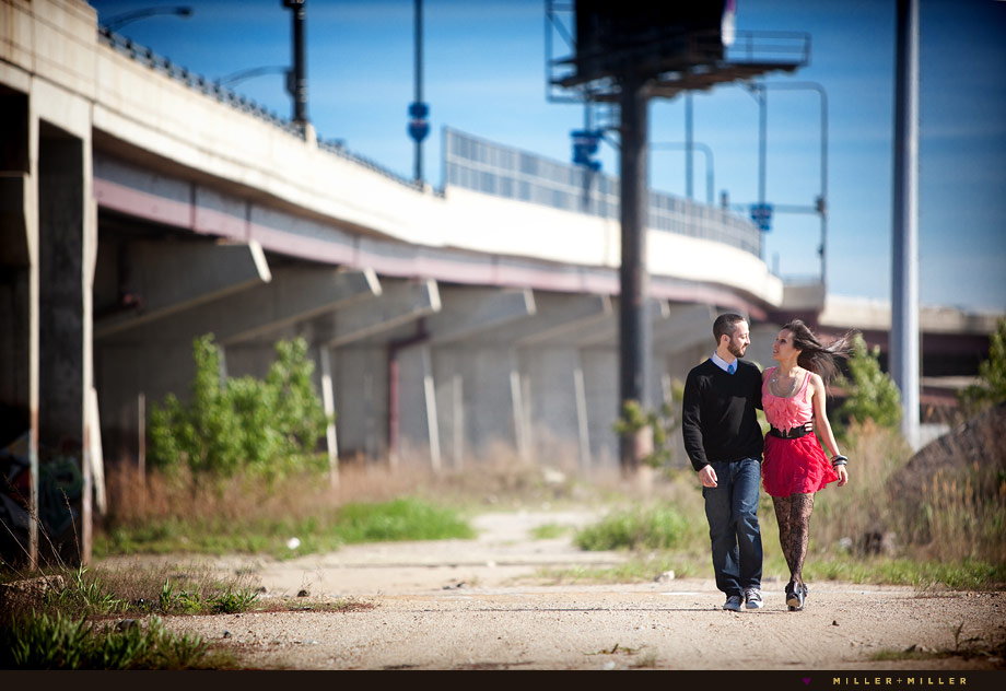 sexy chicago couple portrait walk