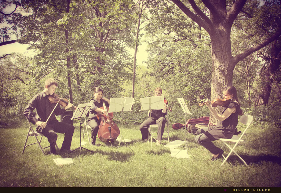 string quartet chicago wedding outdoor ceremony