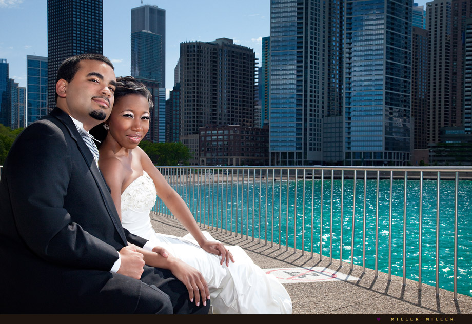 Chicago harbor wedding