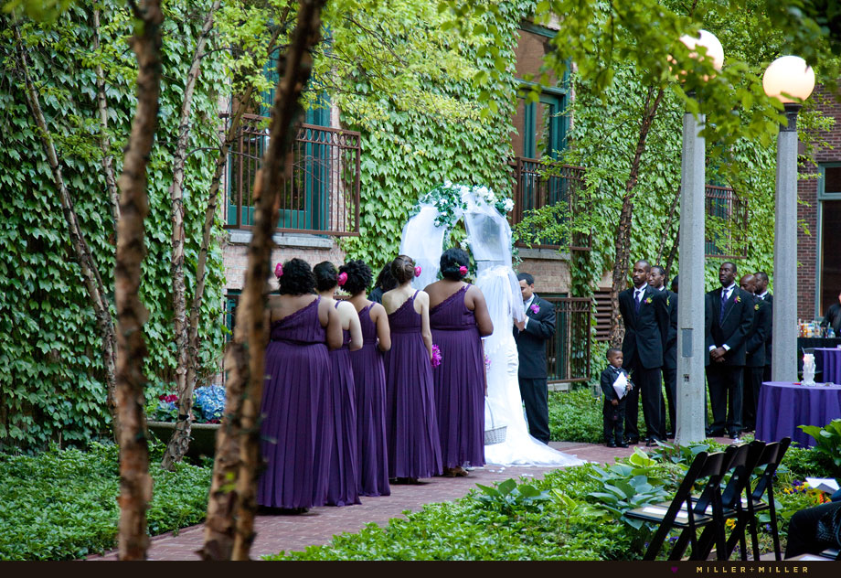 Outdoor ceremony Ivy Room