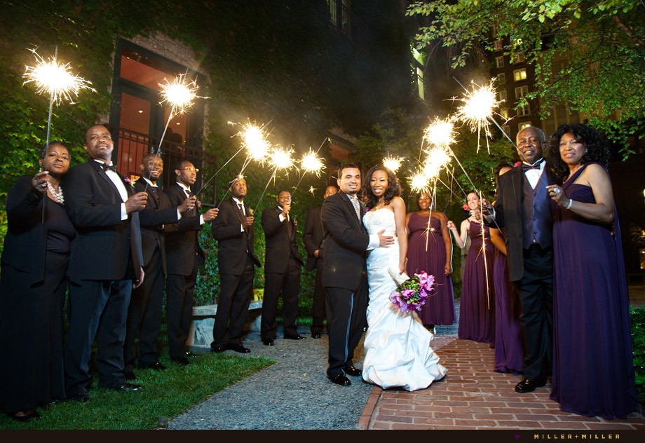 Ivy Room wedding sparklers