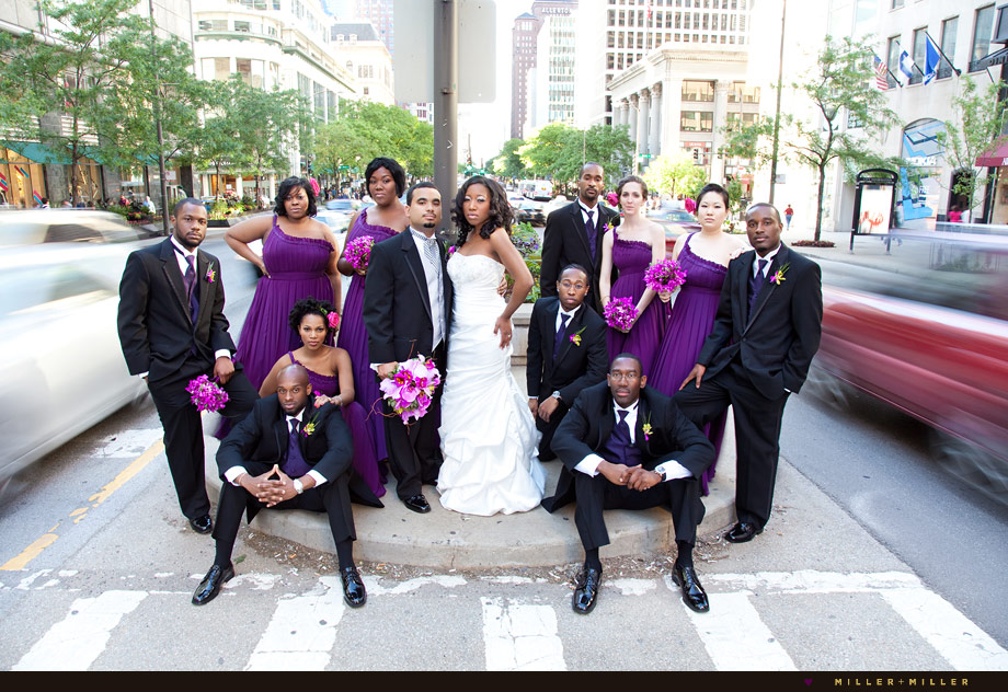 Michigan Avenue wedding photography