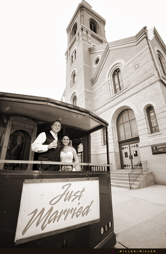 beautiful old Chicago Catholic church wedding