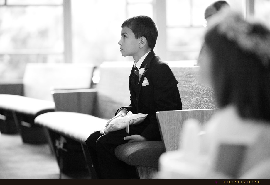 Ring Bearer Black White