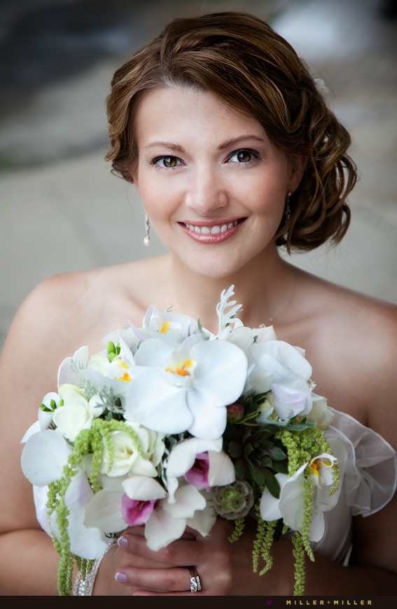 vintage bridal hair orchid flowers