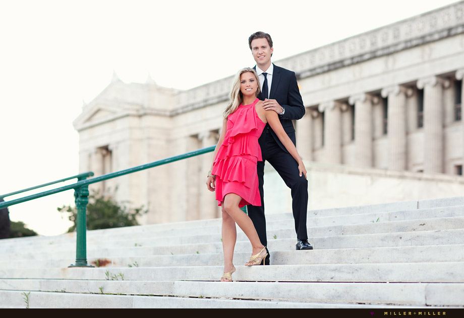 elegant chicago engagement portrait