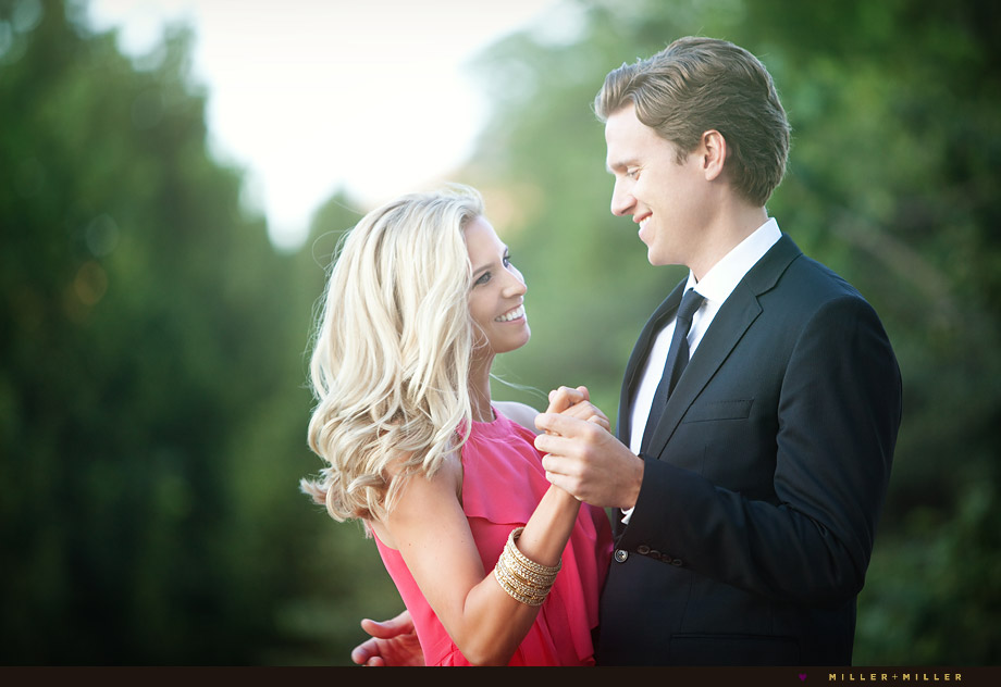 elegant engagement portraits