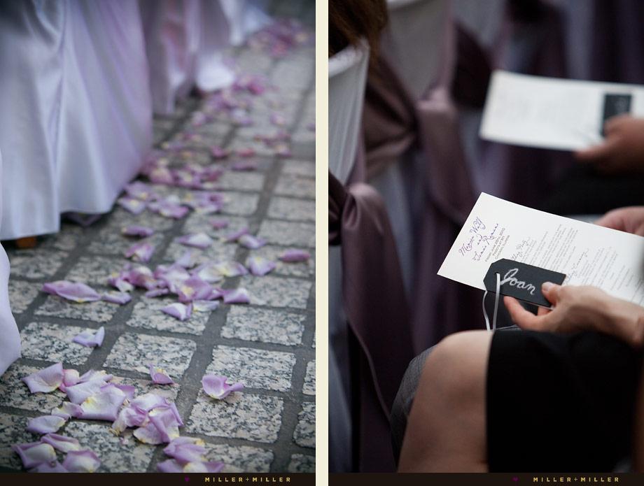 purple wedding planning details