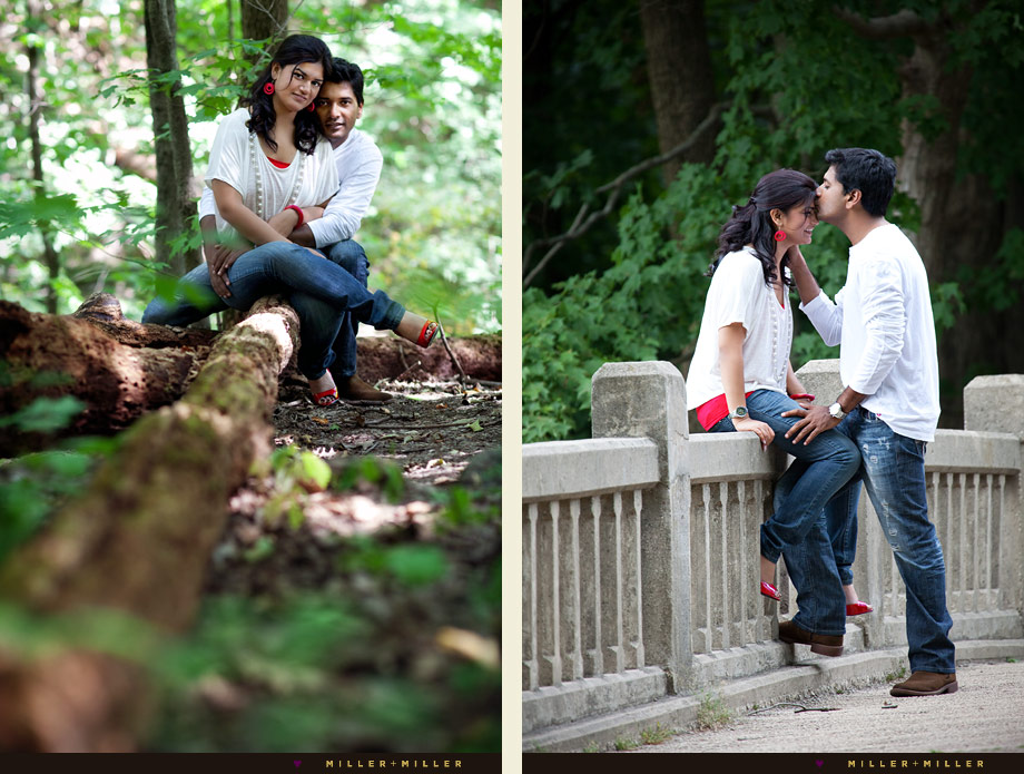 romantic couple engagement photos