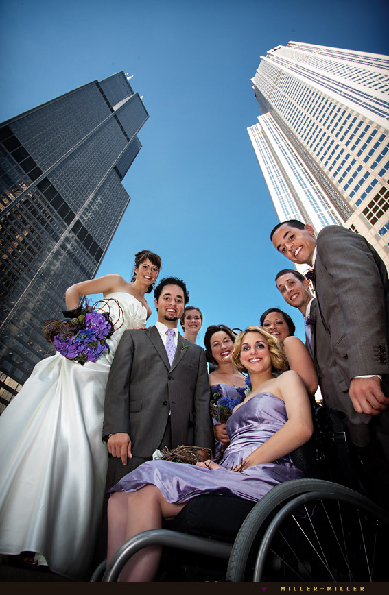 willis tower pazzo's chicago wedding