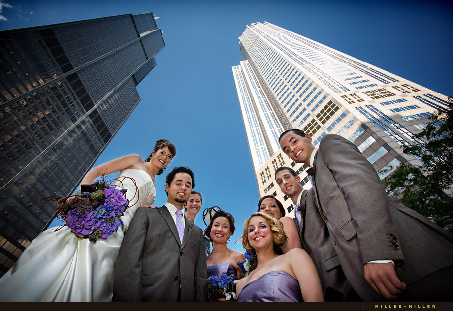 wills tower 311 wacker building wedding