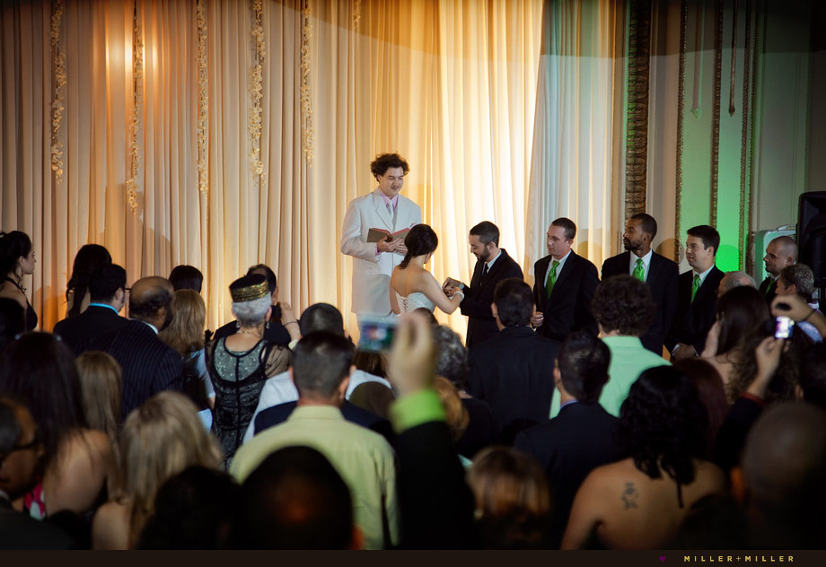 chicago stage wedding ceremony