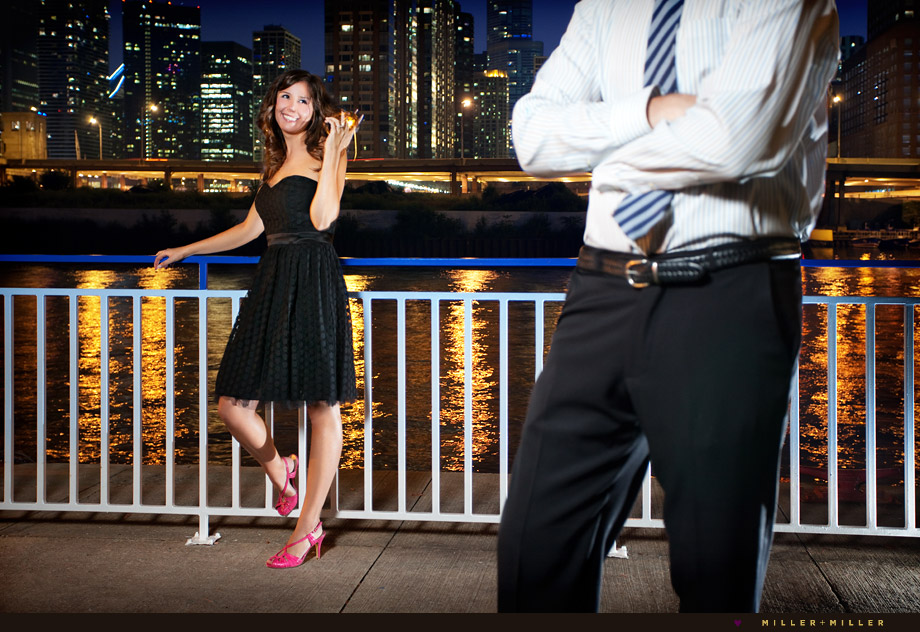 chicago skyline engagement images