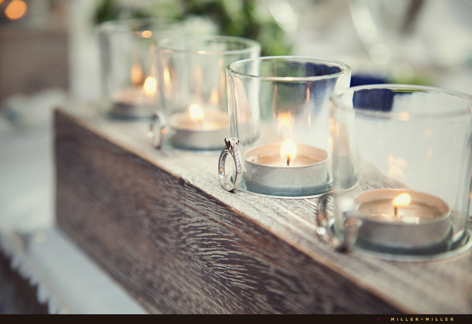 coastal wedding centerpieces candles