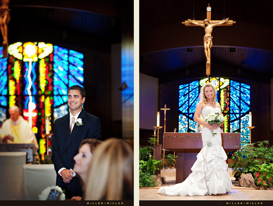 Crystal Lake catholic wedding photographs