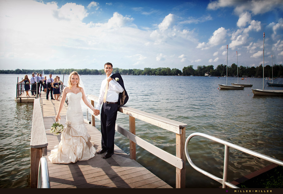 crystal lake dock beach wedding photography
