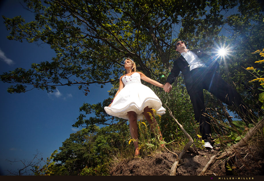 dramatic high-fashion wedding photographer