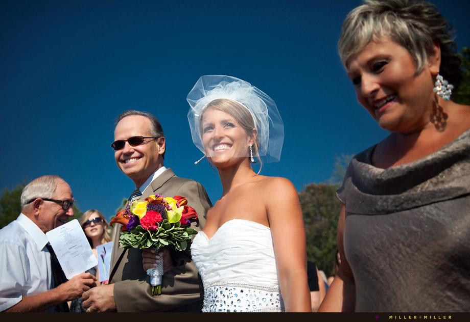 michigan dunes beach wedding ceremony