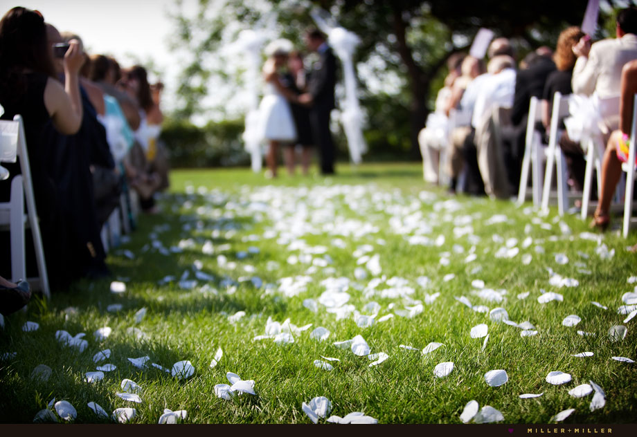 outdoor ceremony illinois summer