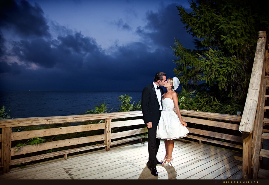 romantic wedding photos michigan beach