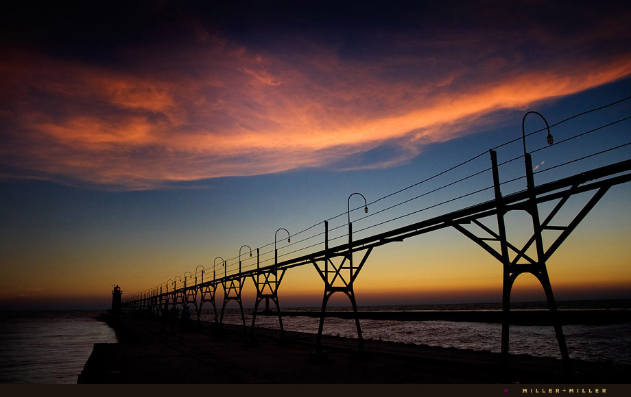 south haven michigan pier sunset