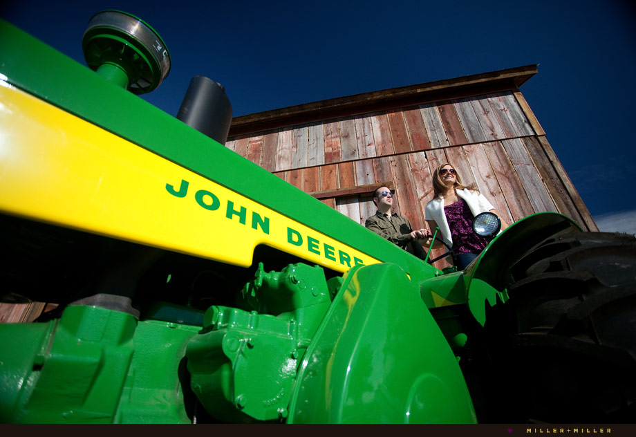 fall engagement barn john deere tractor farm