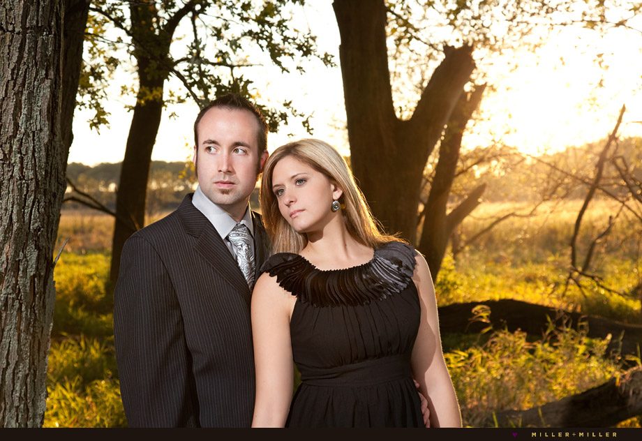 magazine editorial stylish engagement portraits naperville