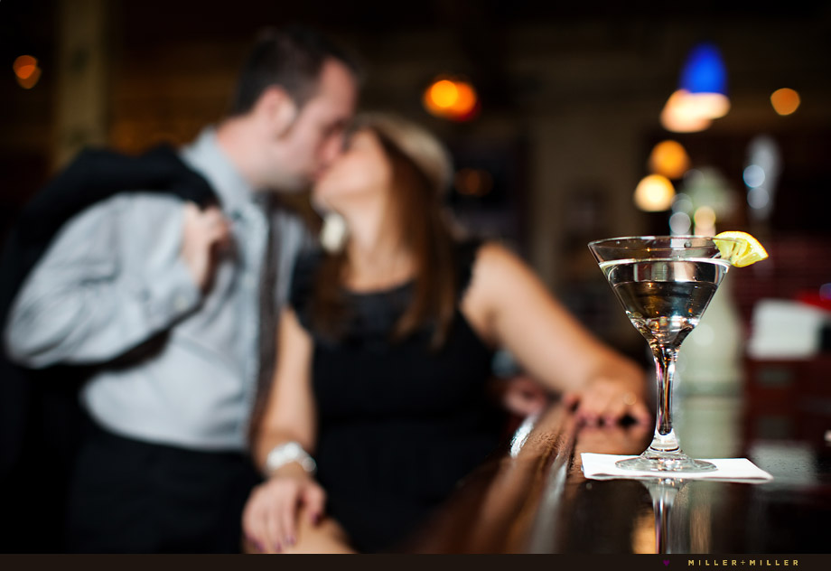 martini bar engagement photos illinois