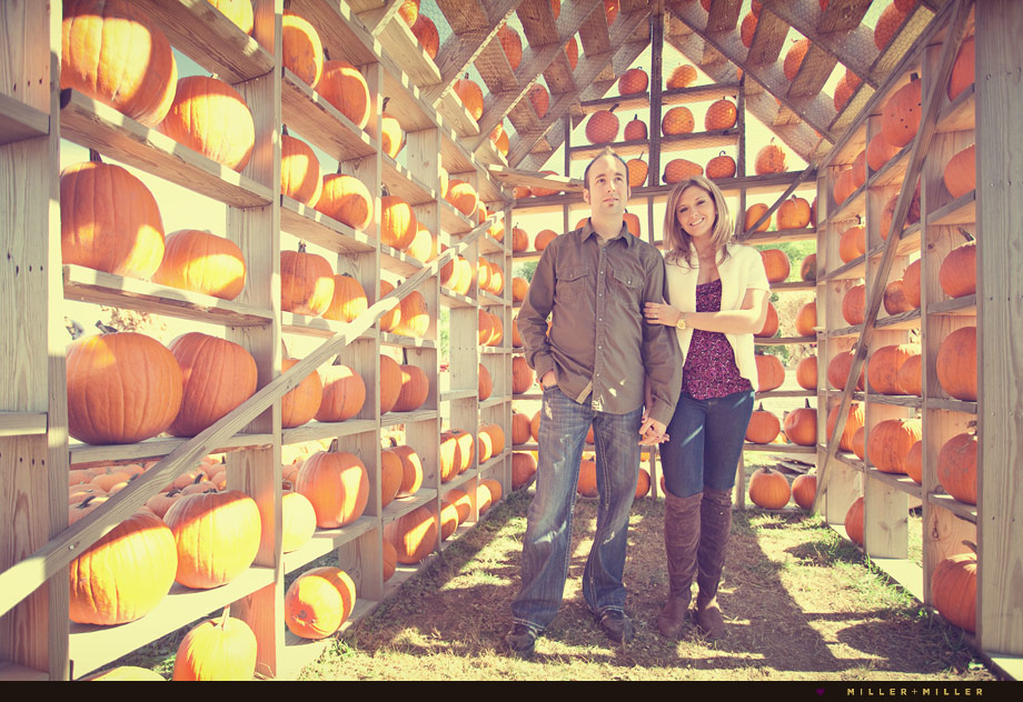 pumpkin farm engagement photography illinois
